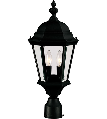 Savoy House Wakefield 2 Light Outdoor Post Lantern in Textured Black 5-1305-BK