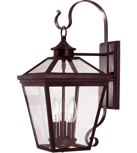 Savoy House 5-141-13 Ellijay 3 Light 19 inch English Bronze Outdoor Wall Lantern  photo