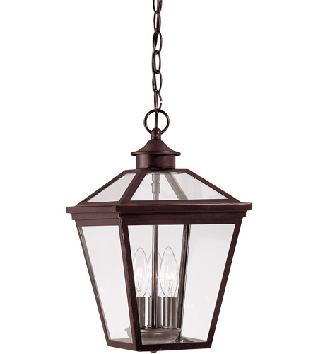 Savoy House Ellijay 3 Light Outdoor Hanging Lantern in English Bronze 5-146-13 photo