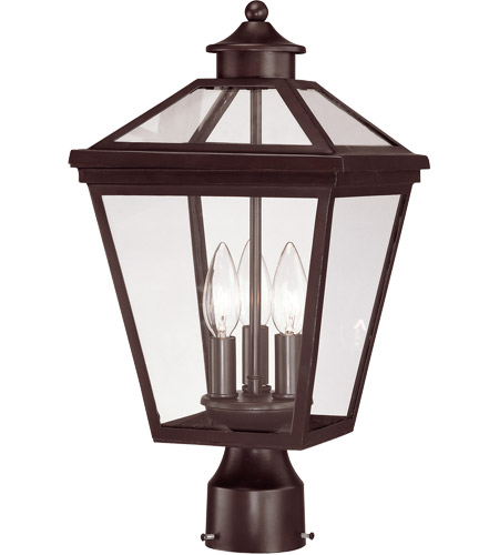 Savoy House Ellijay 3 Light Outdoor Post Lantern in English Bronze 5-147-13