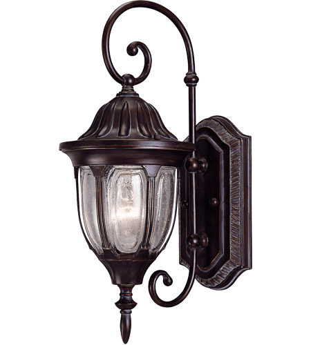 Savoy House Tudor 1 Light Outdoor Wall Lantern in Bark and Gold 5-1500-52 photo