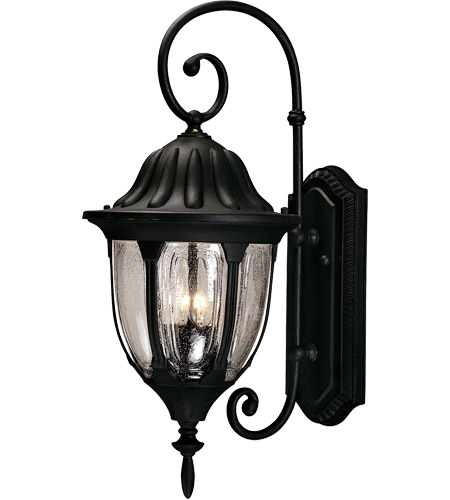 Savoy House 5 1501 Bk Tudor 2 Light 22 Inch Black Outdoor Wall Lantern