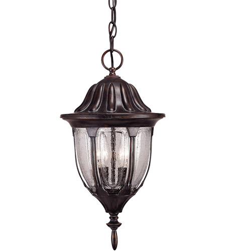 Savoy House 5-1502-52 Tudor 2 Light 9 inch Bark and Gold Outdoor Hanging Lantern photo