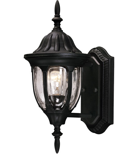 Savoy House Tudor 1 Light Outdoor Wall Lantern in Textured Black 5-1503-BK