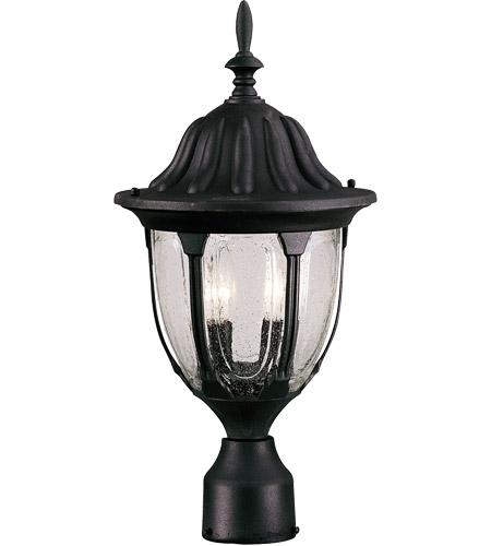 Savoy House Tudor 2 Light Outdoor Post Lantern in Textured Black 5-1504-BK photo