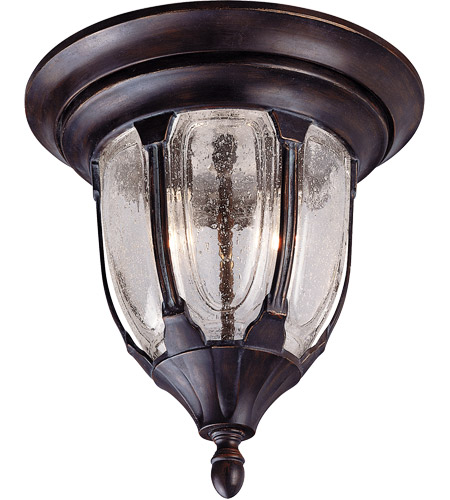 Savoy House 5-1505-52 Tudor 2 Light 11 inch Bark and Gold Outdoor Flush Mount photo