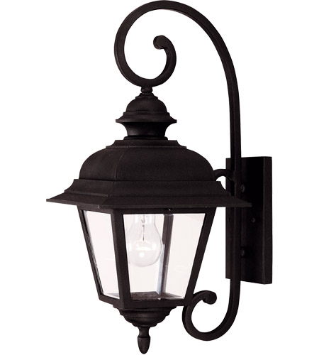 Savoy House Westover 1 Light Outdoor Wall Lantern in Textured Black 5-1601-BK