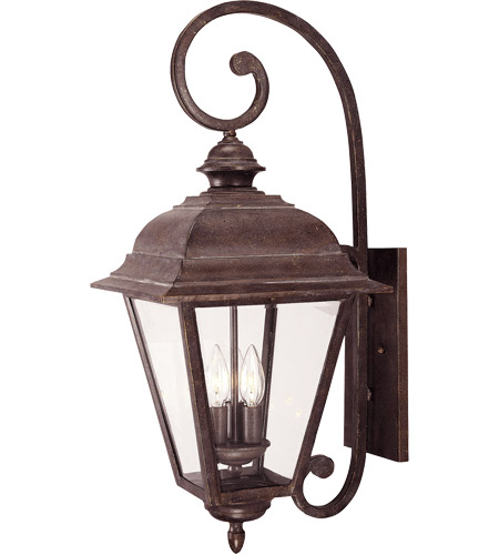 Savoy House Westover 3 Light Outdoor Wall Lantern in Walnut Patina 5-1602-40 photo
