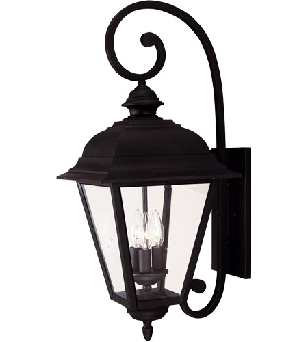 Savoy House Westover 3 Light Outdoor Wall Lantern in Textured Black 5-1602-BK photo