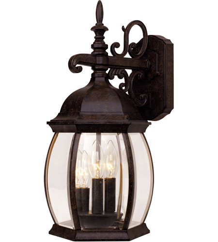Savoy House Exterior Collections 3 Light Outdoor Wall Lantern in Rustic Bronze 5-1650-72 photo