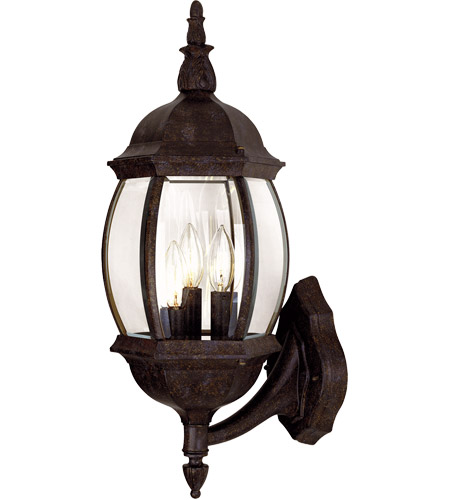 Savoy House Exterior Collections 3 Light Outdoor Wall Lantern in Rustic Bronze 5-1651-72 photo