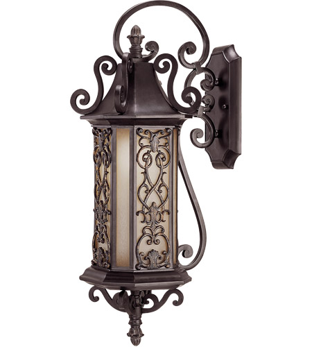 Savoy House Forsyth 1 Light Outdoor Wall Lantern in Como Black w/ Gold 5-190-62 photo