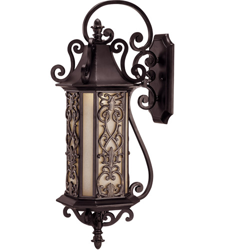 Savoy House Forsyth 6 Light Outdoor Wall Lantern in Como Black w/ Gold 5-191-62 photo