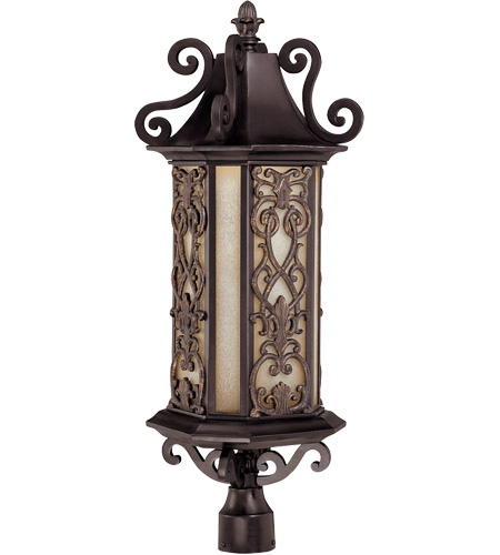 Savoy House 5-193-62 Forsyth 6 Light 31 inch Como Black w/ Gold Outdoor Post Lantern photo