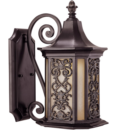Savoy House Forsyth 1 Light Outdoor Wall Lantern in Como Black w/ Gold 5-196-62