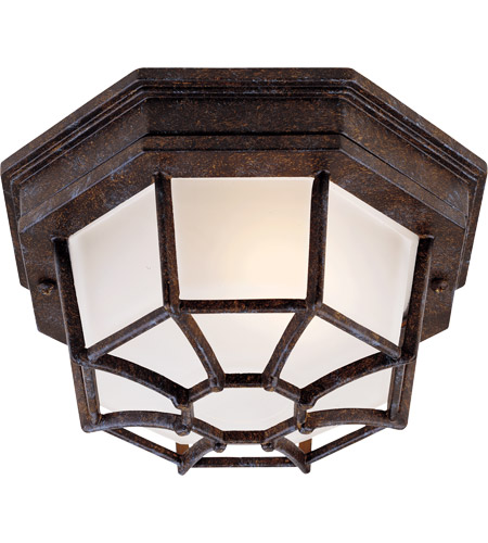 Savoy House Exterior Collections 1 Light Outdoor Flush Mount in Rustic Bronze 5-2066-72