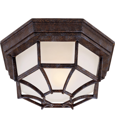 Savoy House Exterior 1 Light Flush Mount in Rustic Bronze 5-2067-72 photo