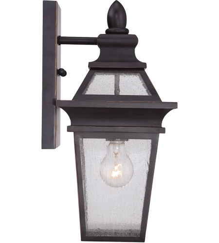 Savoy House Oaklawn 1 Light Outdoor Wall Lantern in Bark and Gold 5-210-1-52 photo