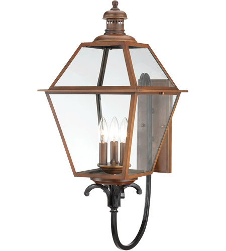Savoy House Montgomery 3 Light Outdoor Wall Lantern in Aged Copper 5-2110-153 photo
