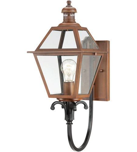 Savoy House Montgomery 1 Light Outdoor Wall Lantern in Aged Copper 5-2112-153 photo