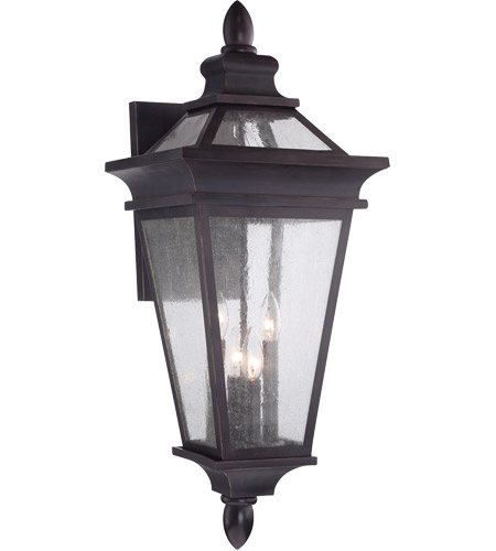 Savoy House Oaklawn 4 Light Outdoor Wall Lantern in Bark and Gold 5-212-4-52