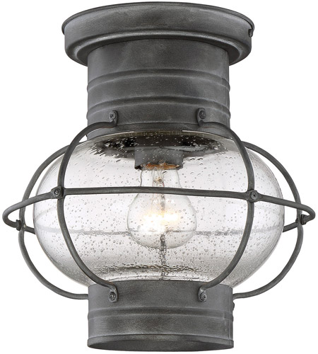 Savoy House 5-224-88 Enfield 1 Light 10 inch Oxidized Black Outdoor Flush Mount photo