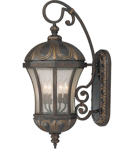 Savoy House Ponce de Leon 4 Light Outdoor Wall Lantern in Old Tuscan 5-2501-306