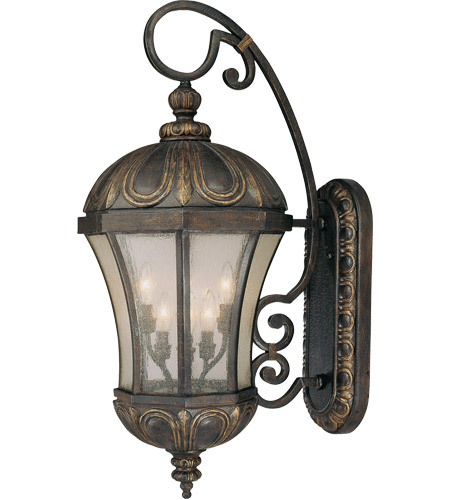 Savoy House 5-2502-306 Ponce de Leon 6 Light 35 inch Old Tuscan Outdoor Wall Lantern in Pale Cream Seeded photo