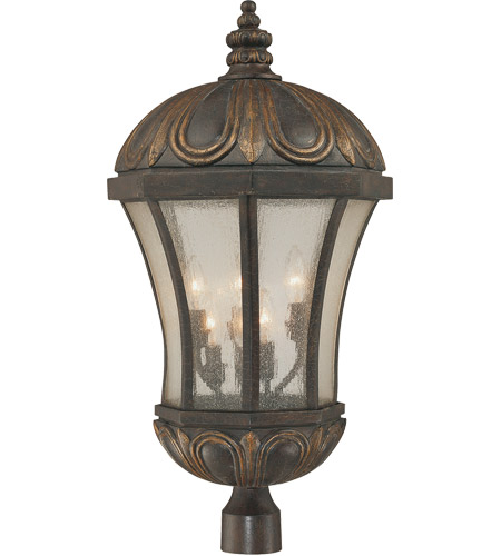 Savoy House Ponce de Leon 6 Light Outdoor Post Lantern in Old Tuscan 5-2504-306