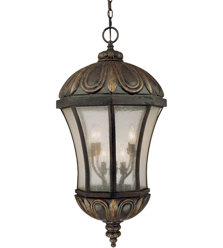 Savoy House Ponce de Leon 8 Light Outdoor Hanging Lantern in Old Tuscan 5-2505-306
