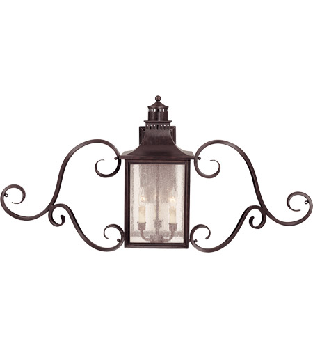 Savoy House 5-253-13 Monte Grande 3 Light 22 inch English Bronze Outdoor Wall Lantern, with Scrolls photo