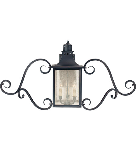 Savoy House Monte Grande 3 Light Outdoor Wall Lantern in Slate 5-253-25 photo