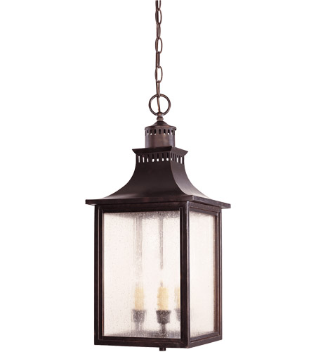 Savoy House Monte Grande 3 Light Outdoor Hanging Lantern in English Bronze 5-256-13 photo