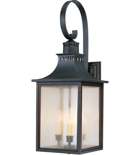 Savoy House Monte Grande 3 Light Outdoor Wall Lantern in Slate 5-259-25
