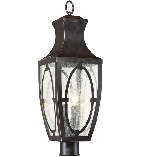 Savoy House 5-264-213 Shelton 2 Light 25 inch English Bronze with Gold Outdoor Post Lantern photo
