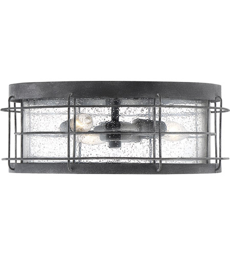 Savoy House 5-2675-88 Fletcher 3 Light 14 inch Oxidized Black Outdoor Flush Mount photo