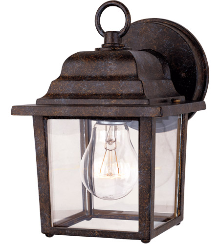 Savoy House Exterior Collections 1 Light Outdoor Wall Lantern in Rustic Bronze 5-3045-72 photo