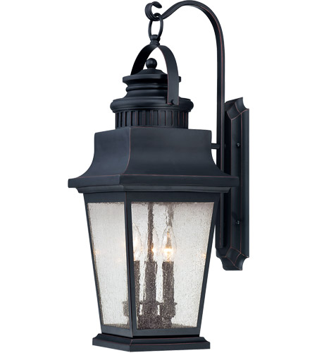 Savoy House 5-3550-25 Barrister 3 Light 28 inch Slate Outdoor Wall Lantern in Clear Seeded photo