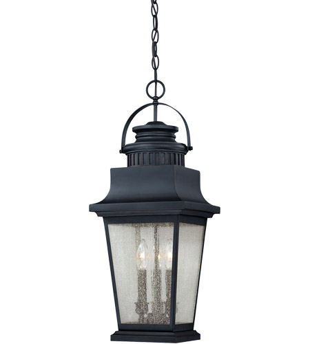Savoy House 5-3551-25 Barrister 3 Light 10 inch Slate Hanging Lantern Ceiling Light in Clear Seeded photo