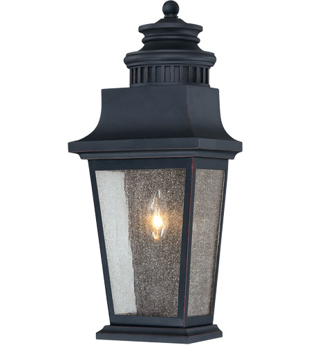 Savoy House 5-3552-25 Barrister 1 Light 19 inch Slate Pocket Lantern in Clear Seeded photo