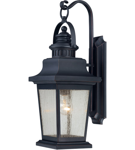 Savoy House 5-3554-25 Barrister 1 Light 23 inch Slate Outdoor Wall Lantern in Clear Seeded photo