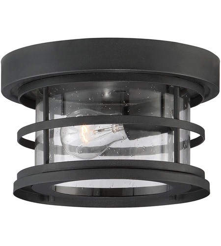 Savoy House 5-369-10-BK Barrett 1 Light 10 inch Black Outdoor Flush Mount photo