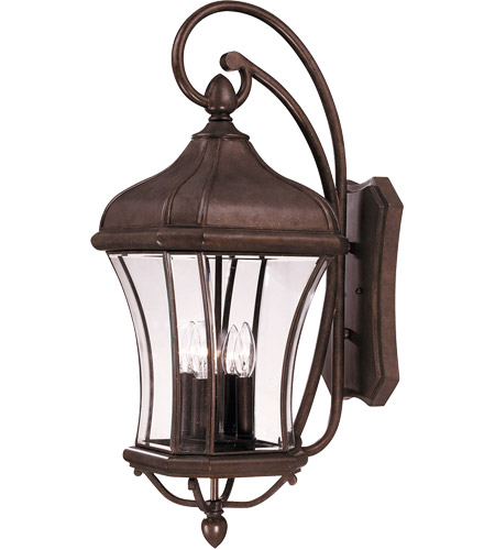 Savoy House 5-3803-40 Realto 4 Light 32 inch Walnut Patina Outdoor Wall Lantern in Clear Beveled photo