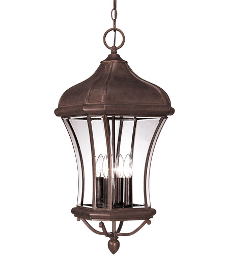 Savoy House Realto 4 Light Outdoor Hanging Lantern in Walnut Patina 5-3806-40