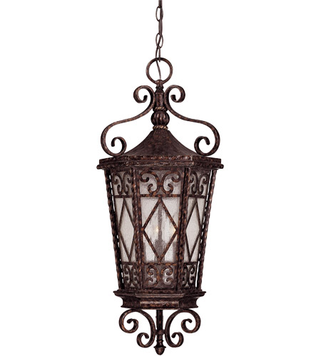 Savoy House 5-423-56 Felicity 3 Light 12 inch New Tortoise Shell Outdoor Hanging Lantern photo