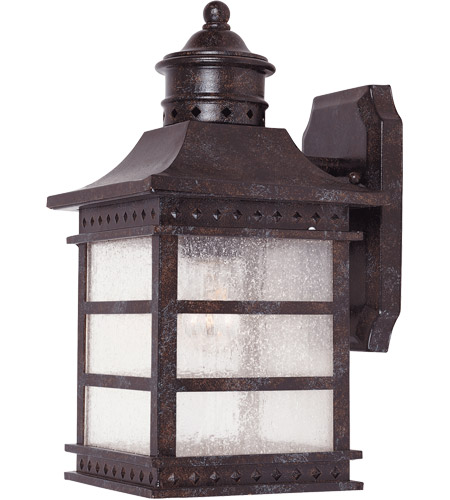 Savoy House 5-440-72 Seafarer 1 Light 13 inch Rustic Bronze Outdoor Wall Lantern in Pale Cream Textured photo