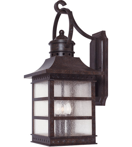 Savoy House 5-441-72 Seafarer 3 Light 21 inch Rustic Bronze Outdoor Wall Lantern in Pale Cream Textured photo