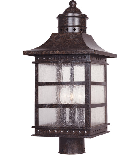 Savoy House Seafarer 3 Light Outdoor Post Lantern in Rustic Bronze 5-443-72