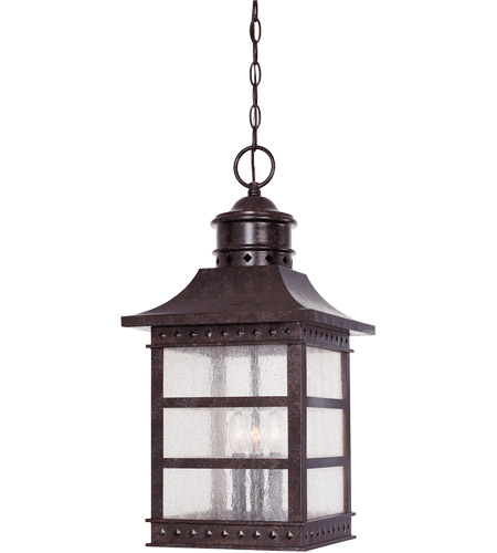 Savoy House Seafarer 3 Light Outdoor Hanging Lantern in Rustic Bronze 5-445-72 photo