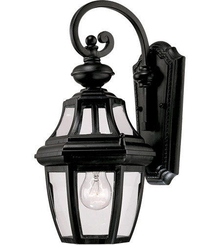 Savoy House Endorado 1 Light Outdoor Wall Lantern in Black 5-491-BK
